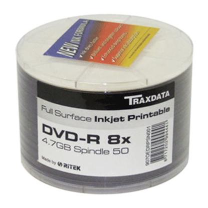 Slika od CD-R TRAXDATA, 700 MB, 52X, spindle 50 kom PRINTABLE WHITE