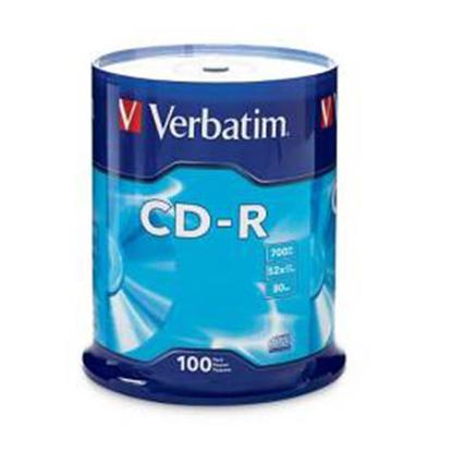 Slika od CD-R,VERBATIM, 700 MB,52X,spindle 100 kom EXTRA PRO