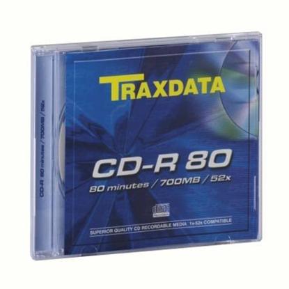 Slika od CD-R, TRAXDATA, 80 min, 52X, SLIMBOX