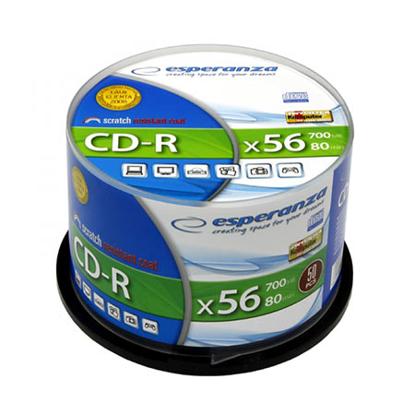 Slika od CD-R ESPERANZA SILVER, 700MB, 80min, 52X, Cake Box, 50kom, 2004