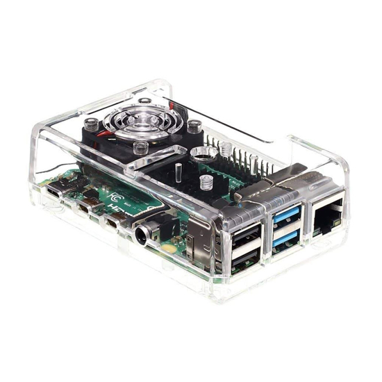 Picture of Raspberry Pi 4B Case Transp Fan, ventilator