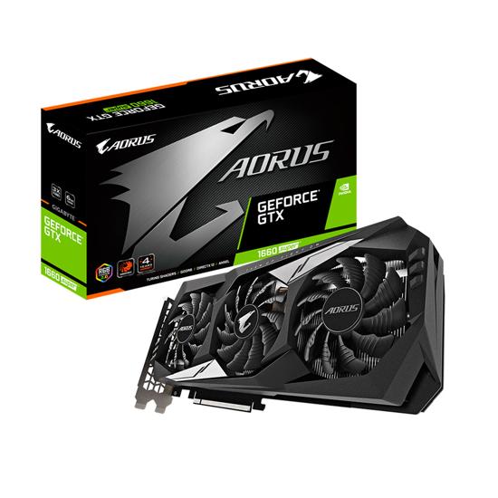 Picture of GIGABYTE VGA GV-N166SAORUS-6GDnVidia GeForce GTX 1660 SUPER6GB GDDR6 192bit;HDMI,3xDP, GVN166SA-00-G
