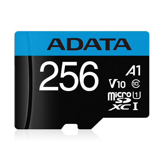 Picture of MICRO SD ADATA 256GB CLASS 10 AUSDX256GUICL10A1-RA1 R:100 MB/s, W:25 MB/s