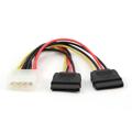 Picture of Kabl napojni interni Y, molex na 2xSerial ATA 15cm power cable, GEMBIRD CC-SATA-PSY