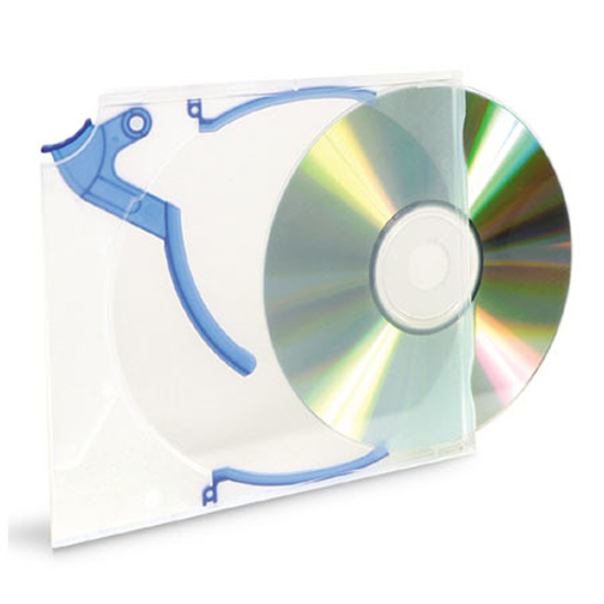 Picture of Korice za CD/DVD + 10xKickOut + 10xClips INTENSO