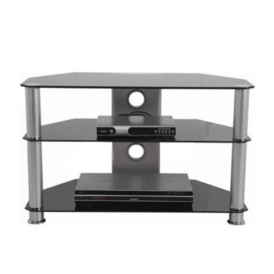 Picture of Stalak za TV GNC AVS040-1200, staklo black/silver 1200x400x500mm
