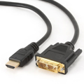 Picture of HDMI kabl, HDMItoDVI 3m M-M gold conn., BULK, GEMBIRD CC-HDMI-DVI-10