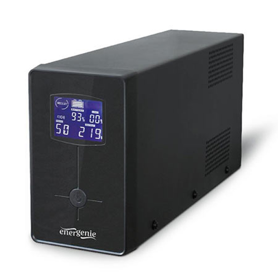 Picture of UPS GEMBIRD EG-UPS-033, AVR, USB and LCD display 1200 VA, black