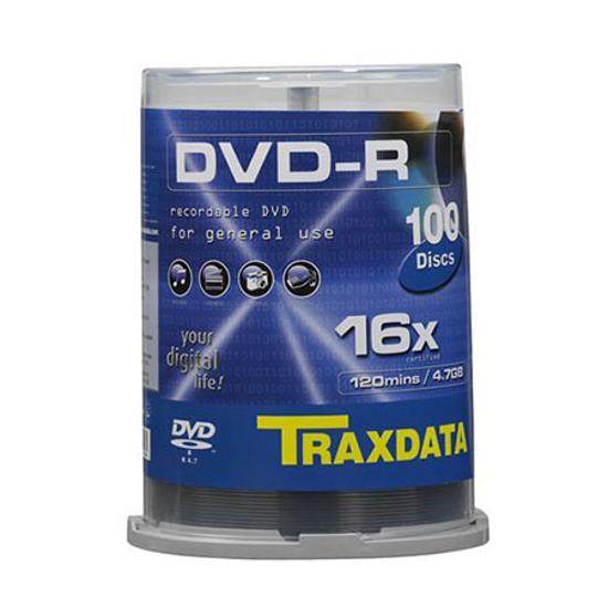 Picture of DVD-R TRAXDATA, 4.7GB, 16X, cake 100 kom