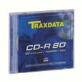 Picture of CD-R, TRAXDATA, 80 min, 52X, SLIMBOX