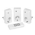 Picture of VIVANCO set od tri utičnice + wireless remote sa RF kontrolom, 1000W, white 26551