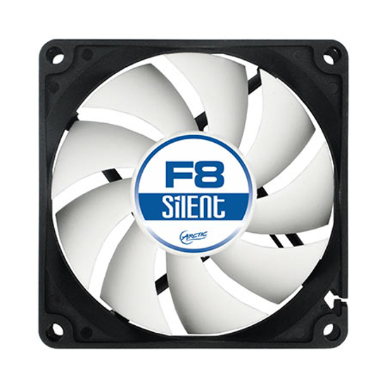 Picture of Ventilator ARCTIC F8 80 mm ACFAN00025A Silent Low Speed Case Fan 3pin, white