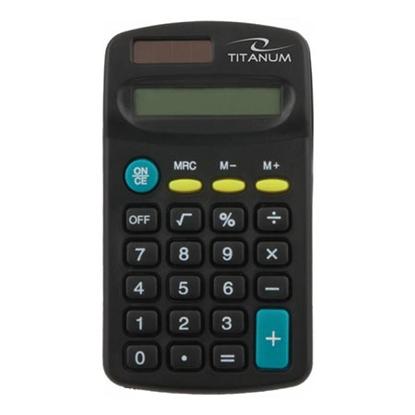Slika od Kalkulator TITANUM TALES, 8 digit display, solar/battery power, TCL101