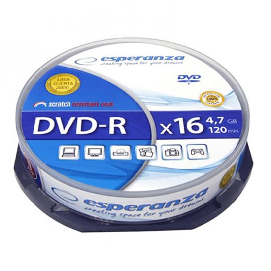 Picture of DVD-R ESPERANZA, 4,7GB, X16, Cake Box, 10 kom, 1111
