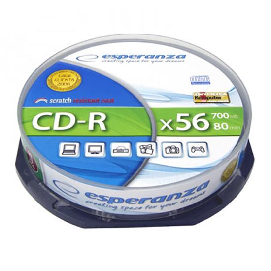 Picture of CD-R ESPERANZA SILVER, 700MB, 80min, 52X, Cake Box, 10 kom, 2006
