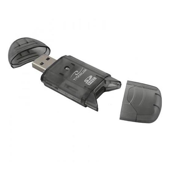 Picture of Card-reader TITANUM, USB 2.0, SDHC/SD/MMC/RS-MMC, TA101K
