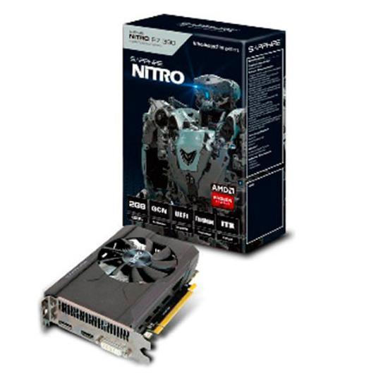 Picture of VGA SAPPHIRE NITRO R9 380 2G GDDR5 PCI-E DL DVI-I/DL DVI-D/HDMI/DP DUAL-X OC W/BP UEFI 11242-12-20G