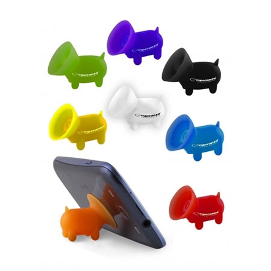 Picture of Mini držač za mobitel/smartphone ESPERANZA HIPPO, vakum, random color, 2 komada, EMS111
