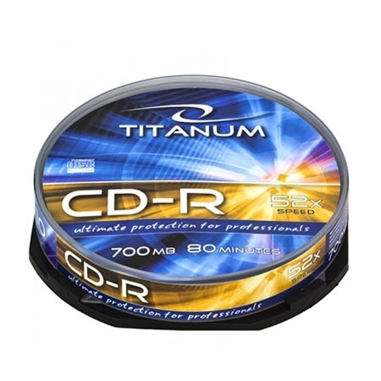 Picture of CD-R TITANUM 700MB, 80min, X52, CAKE BOX, 10 kom, 2026