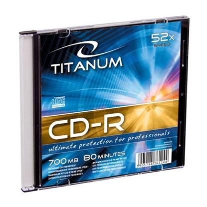 Slika od CD-R TITANUM 700MB, 80min, X52, SLIM CASE, 2029