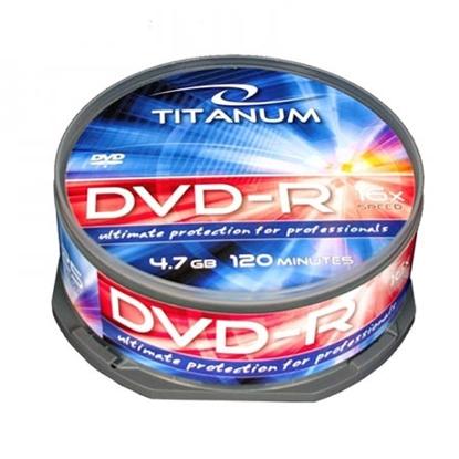 Slika od DVD-R TITANUM 4,7 GB X16, CAKE BOX 25 kom, 1280