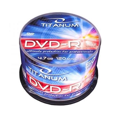 Slika od DVD-R TITANUM 4,7 GB X16, CAKE BOX 50 kom, 1279