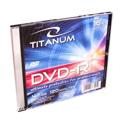 Slika od DVD-R TITANUM 4,7 GB X16, Slim Case, 1285