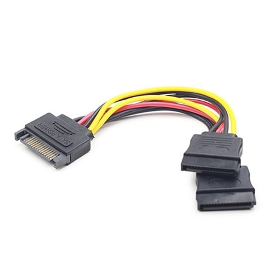 Picture of Kabl napojni interni, SATA to 2x SATA CC-SATAM2F-01 15cm power cable, GEMBIRD