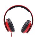 Picture of Slušalice sa mikrofonom GEMBIRD, preklopive, crvene, 3,5mm 4-pin, MHS-DTW-R