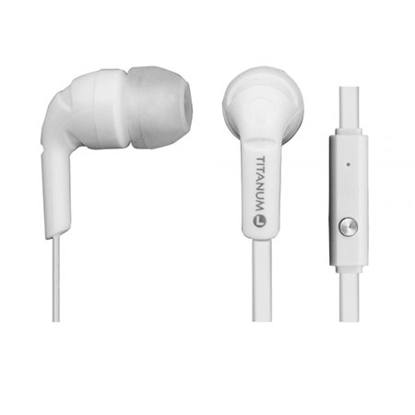 Slika od Slušalice sa mikrofonom TITANUM, In-Ear, white, TH109W