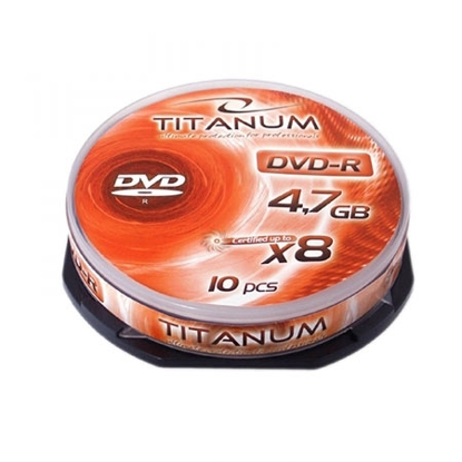 Slika od DVD-R TITANUM 4,7 GB X8, CAKE BOX 10 kom, 1071