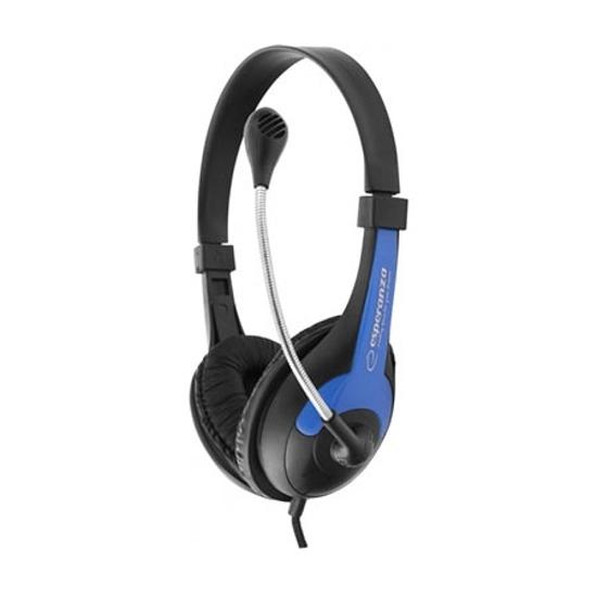 Picture of Slušalica sa mikrofonom ESPERANZA ROOSTER, volume control, blue, EH158B