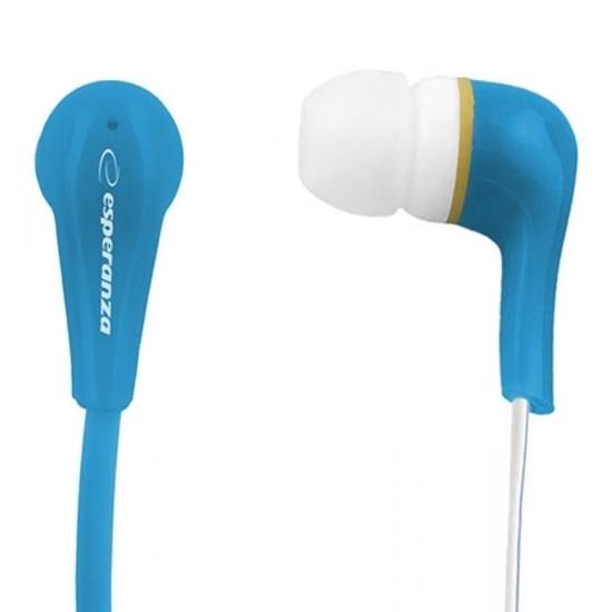 Picture of Slušalice ESPERANZA LOLLIPOP In-Ear, Noise dampening + Amplified BASS, blue, EH146B