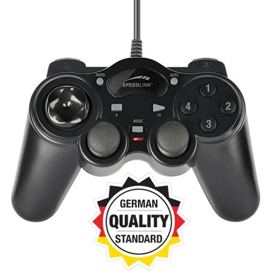 Picture of Game Pad SPEEDLINK THUNDERSTRIKE USB, black for PC, black, SL-6515-BK