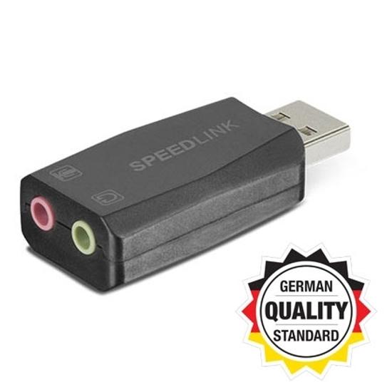 Picture of Zvučna kartica SPEEDLINK VIGO USB Sound Card, black, SL-8850-BK-01