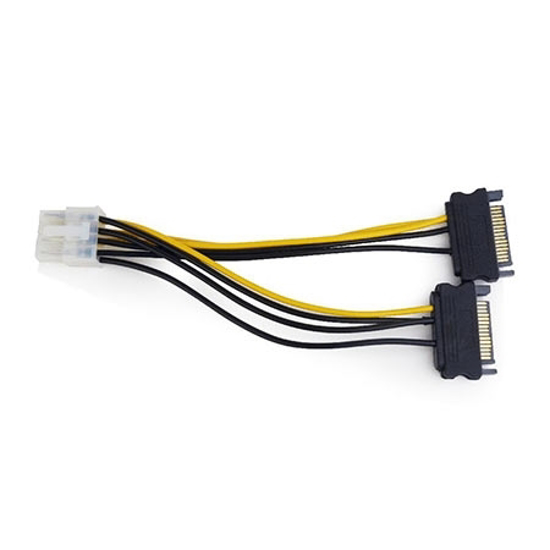 Picture of Kabl napojni interni GEMBIRD, CC-PSU-83, 8 pin to 2x SATA, 15 cm