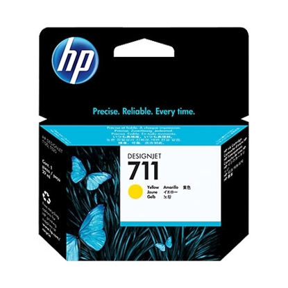 Slika od HP Tinta CZ132A Yellow 711 T120 24-in, T520 24-in, T520 36-in