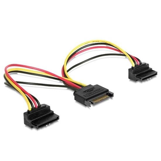 Picture of Kabl napojni interni, SATA to 2x SATA 90 stepeni CC-SATAM2F-02 15cm power cable, GEMBIRD