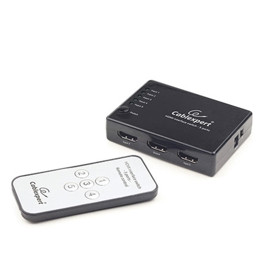 Picture of HDMI interface switch, 5 port, 5 uređaja na jedan TV, DSW-HDMI-53, + daljinski