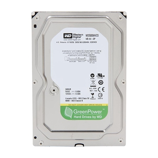 Picture of HDD 500GB, WD5000AVCS AV-GP PULL , SATA2, 16MB/7200rpm