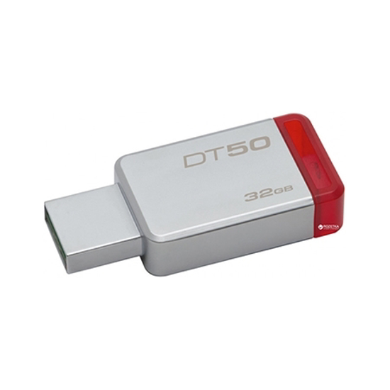 Picture of USB Memory stick Kingston 64GB, USB3,1  DT50/64GB METAL CASING,RED
