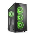 Picture of Kućište SHARKOON gaming, TG5 Full Glass Green ATX, 4x 120mm LED