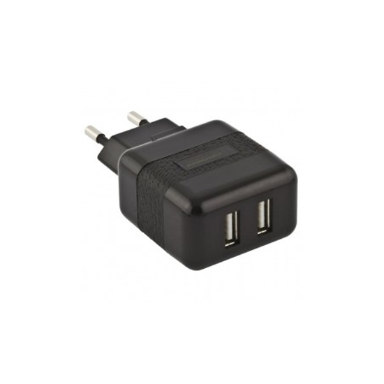 Picture of USB punjac ESPERANZA CHARGER,  Dual USB, AC 100-240V, 5V/2,1A, black, EZ114