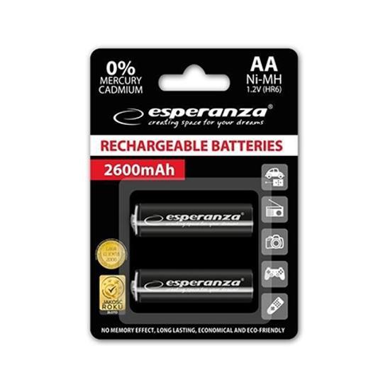 Picture of Punjive baterije ESPERANZA RECHARGEABLE Ni-MH  AA 2600MAH 2kom. black, EZA105