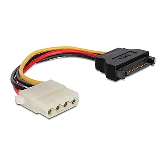 Picture of Kabl napojni interni, SATA (male) to Molex (female) CC-SATA-PS-M 15cm power cable, GEMBIRD