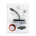 Picture of USB adapter Type-C 3in1 to VGA, USB3.0 + punjac, BLACK, GEMBIRD A-CM-VGA3in1-01