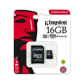 Picture of Micro SD card Kingston 16 GB SDHC Class10 SDCS/16GB Canvas 16GB UHS-I + SD adapter, Format microSD, Kapacitet  16 GB , read 80/mbs write 10/mbs