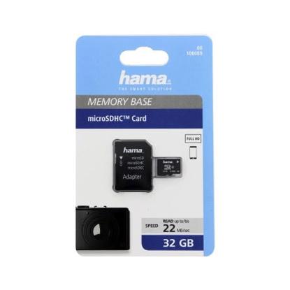 Slika od Micro SDHC  HAMA C10 32GB 22MB/s + A/P 108089