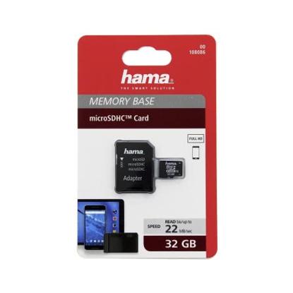 Slika od Micro SDHC  HAMA C10 32GB 22MB/s + A/M  108086