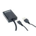 Picture of Video adapter kabl, 0.15 m, black, VGA to HDMI, GEMBIRD A-VGA-HDMI-01